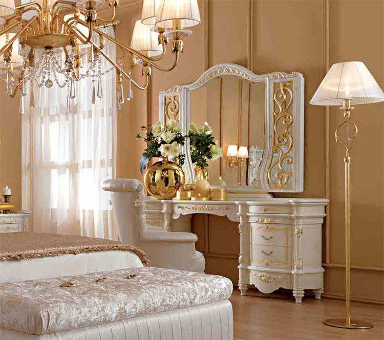 luxus schlafzimmer set wei lack furnier glanz klassische italienische stilm bel ebay. Black Bedroom Furniture Sets. Home Design Ideas