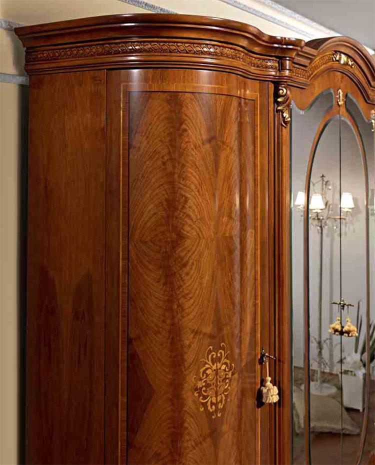 Luxus schlafzimmer set nussbaum furnier klassische italienische stilm bel ebay - Italienische designer wandspiegel ...