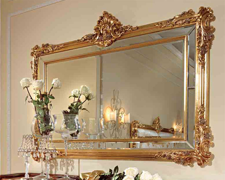 luxus wandspiegel spiegel blattgold holz klassische italienische stilm bel ebay. Black Bedroom Furniture Sets. Home Design Ideas