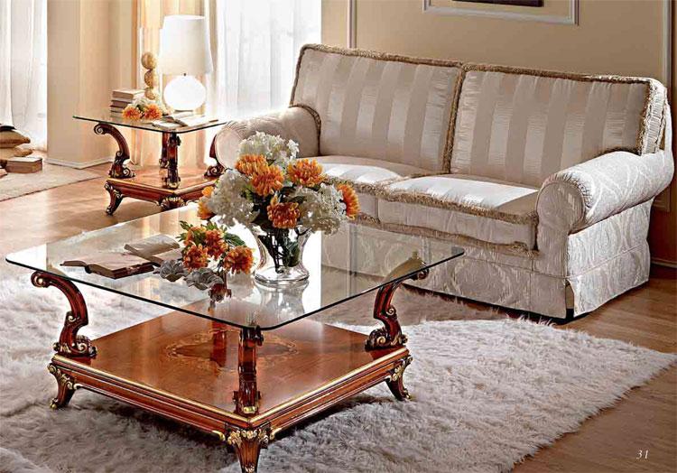 Luxus sofa 3 sitzer furnier massiv klassische italienische stilm bel Italienische sofa