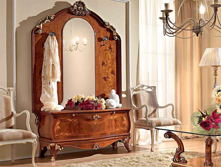 Luxus garderobe nussbaum massiv furnier klassische for Garderobe italienisches design