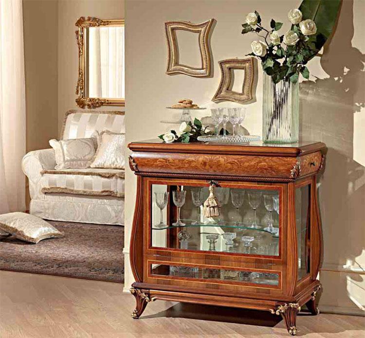 luxus unterschrank display hochglanz furnier klassische italienische stilm bel ebay. Black Bedroom Furniture Sets. Home Design Ideas