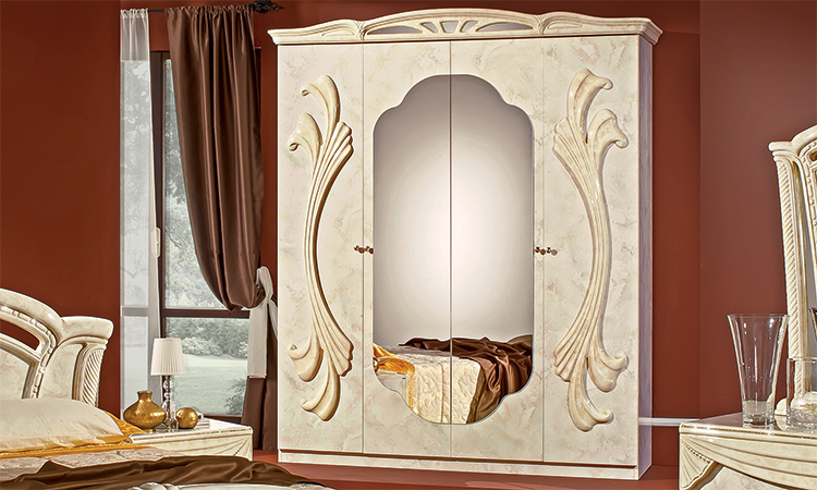 schlafzimmer kleiderschrank beige klassik standard stil m bel italy g nstig ebay. Black Bedroom Furniture Sets. Home Design Ideas