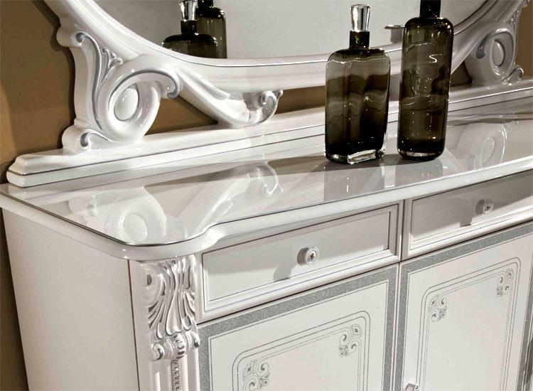 Lusso soggiorno prestige bianco argento decoro stile for Ebay classico