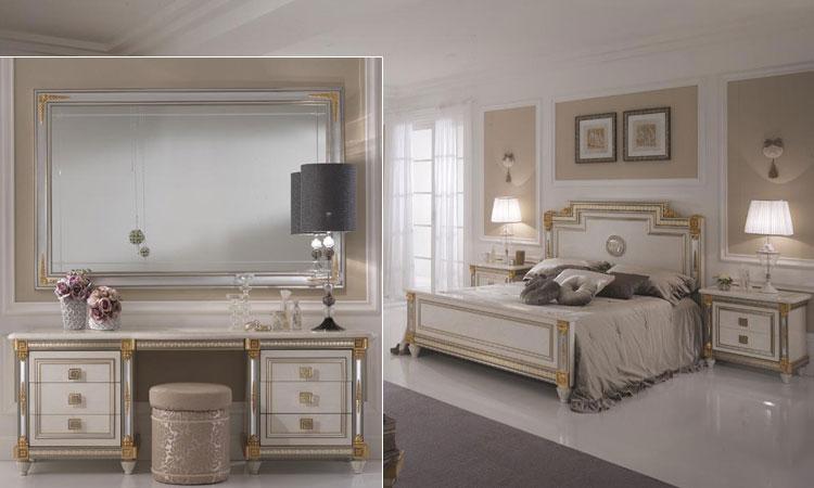 exklusives schlafzimmer lackiert golddekor luxus stilmbel italia wohnzimmer dekoo - Luxus Schlafzimmer Komplett