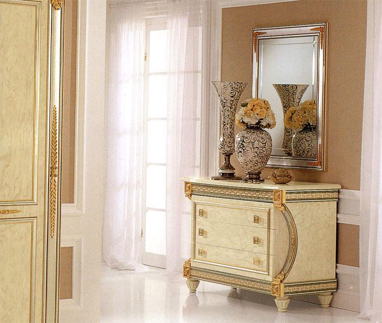 Exklusive kommode herrenkommode hochglanz gold dekor - Hochglanz schlafzimmer italien ...