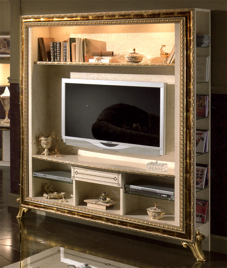 Details zu tv tisch m bel alineo glas auf rollen glastisch for Wohnwand livorno