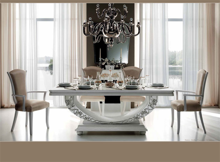 luxus esstisch ausziehbar hochglanz esszimmer miro klassische, Wohnzimmer