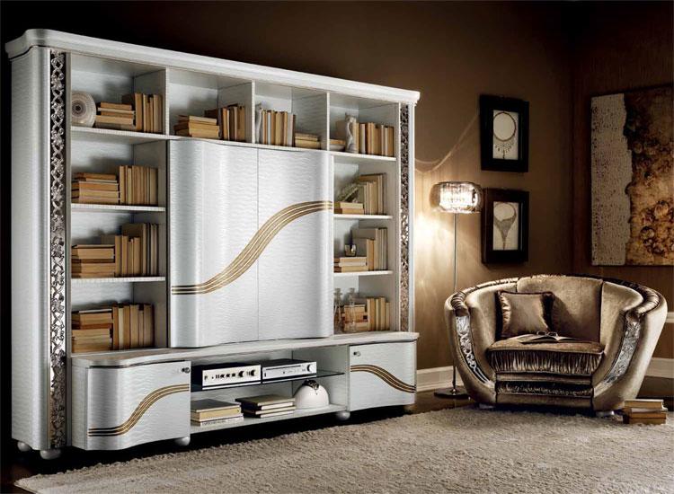 Luxus plasma tv wohnwand miro klassische stilm bel italien - Klassische wohnwand ...
