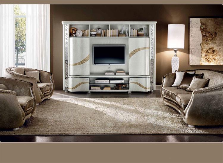 luxus wohnzimmer tische:Luxus Wohnzimmer Set TV-Wohnwand Sofa 2xSessel Miro Klassische