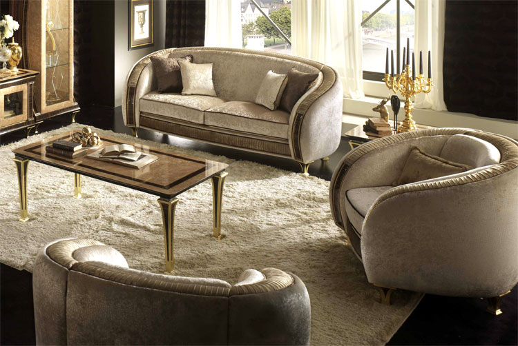 polsterm bel sessel rossini beige golddekor stilm bel italien klassik hamburg. Black Bedroom Furniture Sets. Home Design Ideas