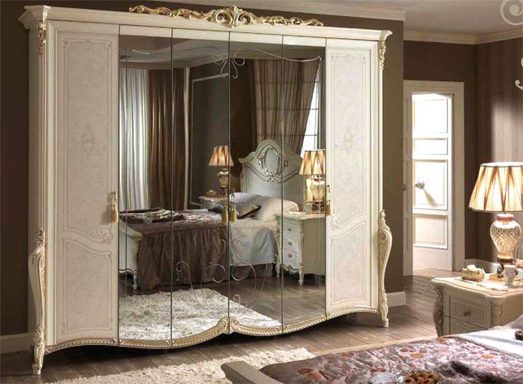 luxus komplett schlafzimmer tiziano beige ivory klassische ... - Schlafzimmer Bei Ebay