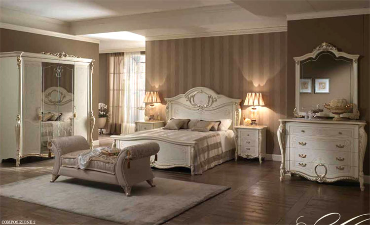 luxus komplett schlafzimmer tiziano klassische stilm bel italien ebay. Black Bedroom Furniture Sets. Home Design Ideas