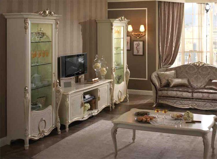 Luxus wohnwand wohnzimmer tiziano klassische stilm bel - Klassische wohnwand ...
