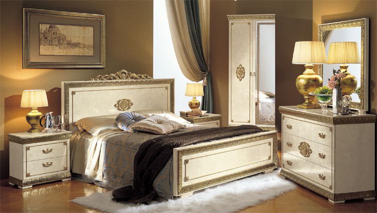 Komplett Luxus Schlafzimmer Set Impero Beige Gold Klassische .