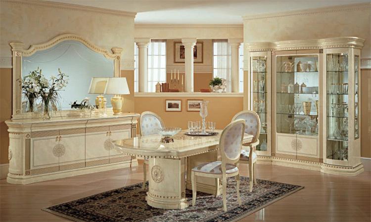 Komplett Wohnzimmer Esszimmer Luxus Stilmöbel Italien Arredo .