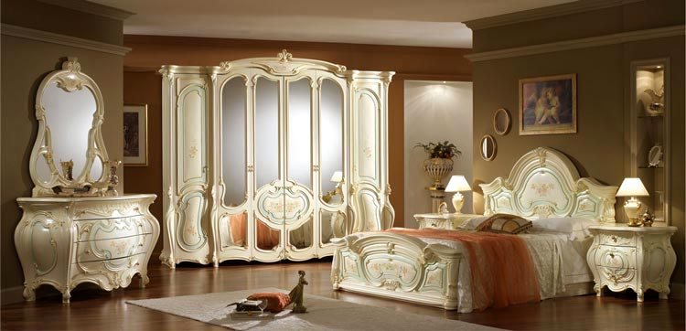 komplett luxus schlafzimmer art epoque italien barock. Black Bedroom Furniture Sets. Home Design Ideas