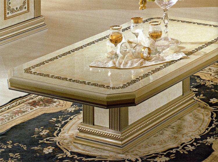 Tisch Couchtisch Luxus Italia Exklusive Qualität Beige