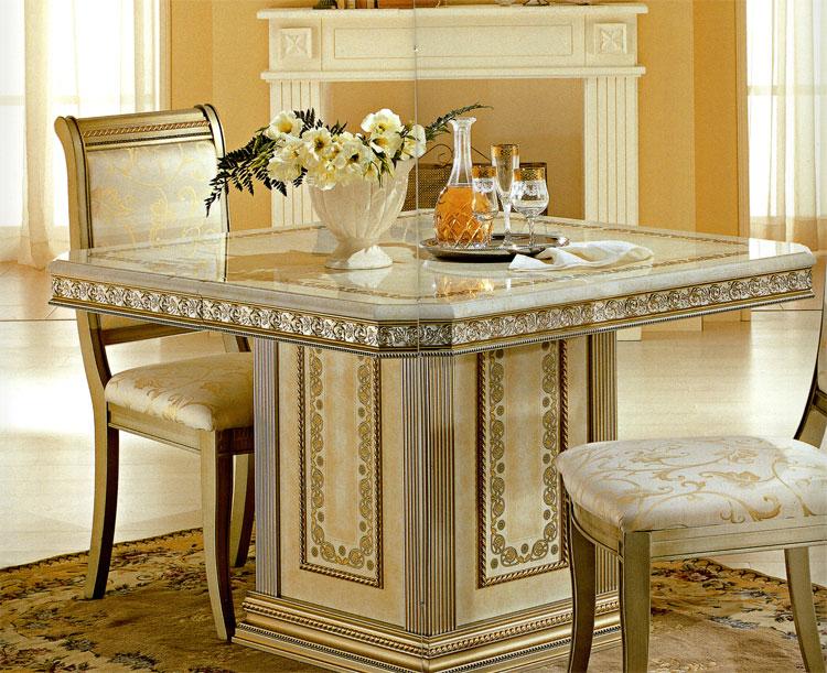 Tisch esstisch luxus italia exklusive qualität beige gold arredo ...
