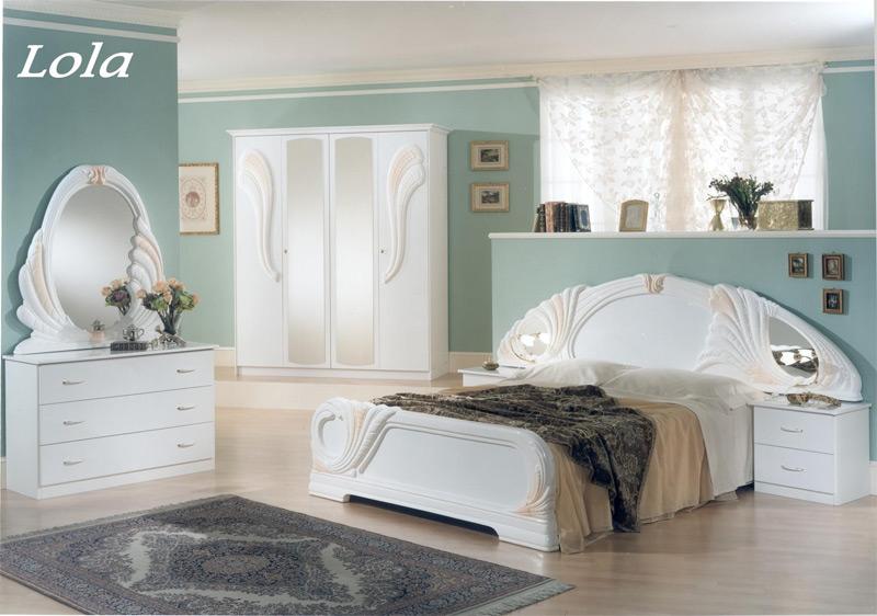 klassisches schlafzimmer m bel aus italien weiss hochglanz