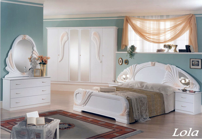 komplett schlafzimmer stil moebel aus italien wei italien klassik. Black Bedroom Furniture Sets. Home Design Ideas