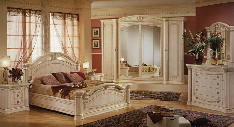 komplett klassisches schlafzimmer m bel aus italien luxus. Black Bedroom Furniture Sets. Home Design Ideas