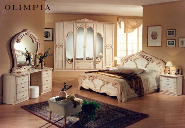 design schlafzimmer olimpia barock luxus romantische stilm bel italien klassik ebay. Black Bedroom Furniture Sets. Home Design Ideas