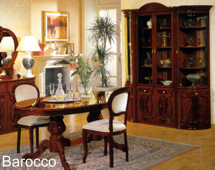 m bel italien wohnwand barocco holz farbe nussbaum klassik lack design ebay. Black Bedroom Furniture Sets. Home Design Ideas