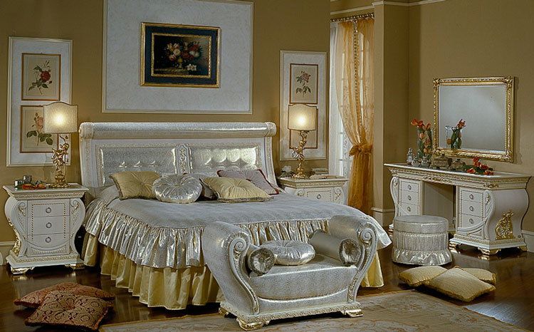design luxus schlafzimmer bett nachttische renaissance stilm bel aus italien ebay. Black Bedroom Furniture Sets. Home Design Ideas