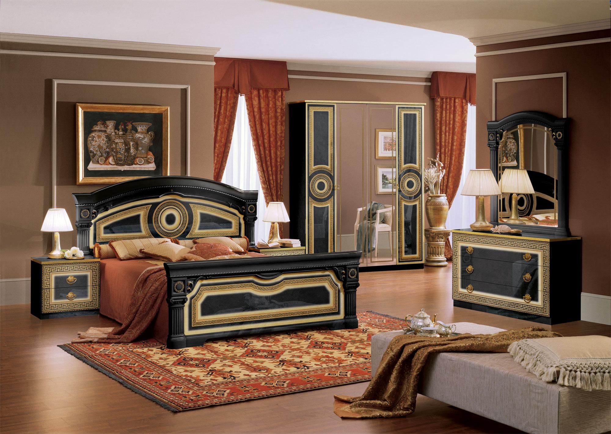 komplett schlafzimmer aida schrank bett nachttische frisierkommode spiegel neu ebay. Black Bedroom Furniture Sets. Home Design Ideas