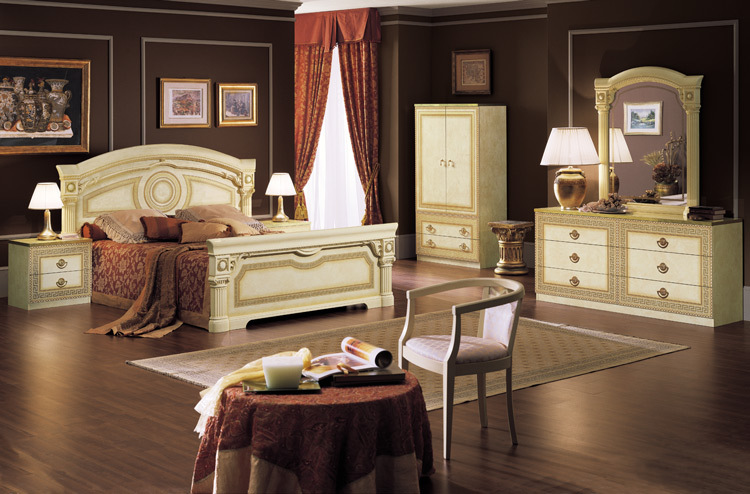 design m bel bett nachttisch schwarz golddecor italia luxus schick designerm bel hamburg. Black Bedroom Furniture Sets. Home Design Ideas