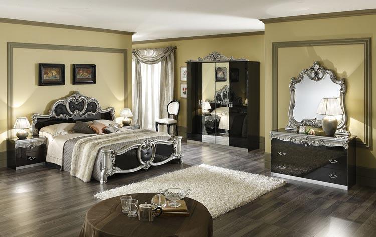 komplett schlafzimmer barocco stilmöbel aus italien hochglanz