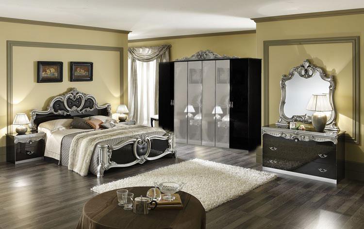 Komplett Schlafzimmer Barocco Stilmbel Italien Hochglanz Klassik