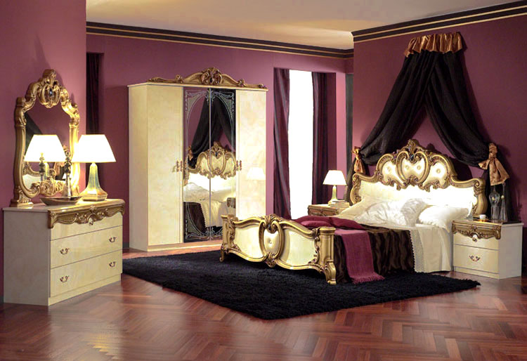 komplett schlafzimmer barocco ivory gold stilm bel aus italien klassik qualit t ebay. Black Bedroom Furniture Sets. Home Design Ideas