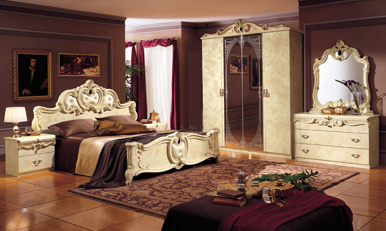Komplett topseller barocco schlafzimmer stil klassik for Italienisches schlafzimmer hochglanz