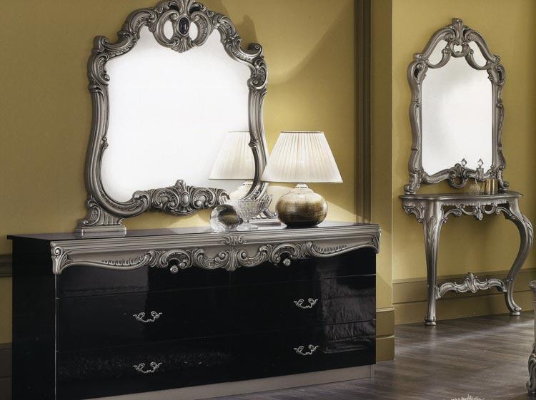 komplett schlafzimmer barocco stilmöbel aus italien hochglanz, Hause deko