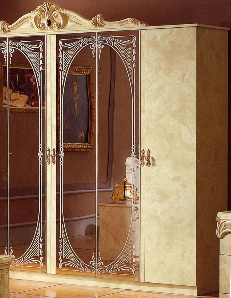 Kleiderschrank barocco beige klassik stilm bel italien - Designermobel italien ...