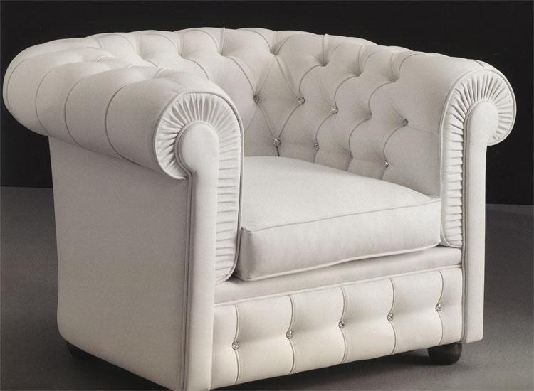 Luxus sessel  Luxus Sessel Ecoleder Leder Weiß Kristalle Klassische Stilmoebel ...