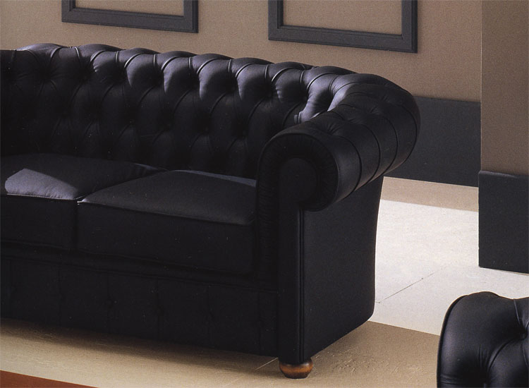 luxus sofa 2er echtleder leder schwarz kristalle. Black Bedroom Furniture Sets. Home Design Ideas