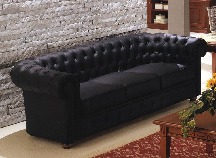luxus sofa 3er ecoleder leder schwarz kristalle klassische stilmoebel italien ebay. Black Bedroom Furniture Sets. Home Design Ideas