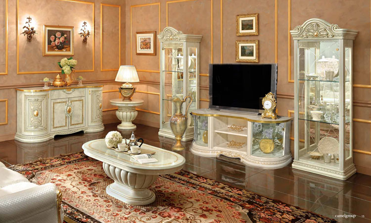 esstisch oval ausziehbar stilm bel italien klassik hochglanz luxus barock ebay. Black Bedroom Furniture Sets. Home Design Ideas