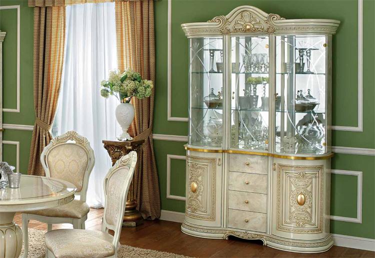 Esstisch rund ausziehbar italienische stilm bel klassik for Italienische schlafzimmer hochglanz