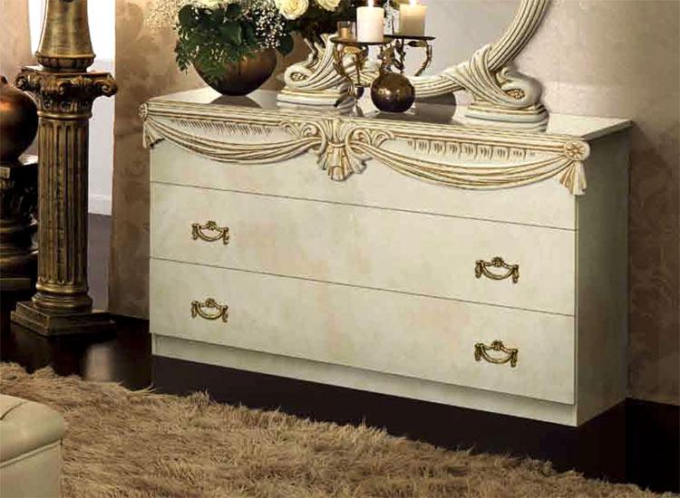 luxus schlafzimmer luxor mahogany gold hochglanz stilmöbel italien