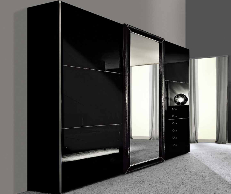 exklusive kommode 6 schubladen schwarz hochglanz stilm bel designerm bel italien ebay. Black Bedroom Furniture Sets. Home Design Ideas