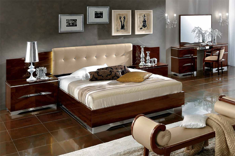 komplett schlafzimmer set luxus modern deluxe stilmoebel italy furnier nuss ebay. Black Bedroom Furniture Sets. Home Design Ideas