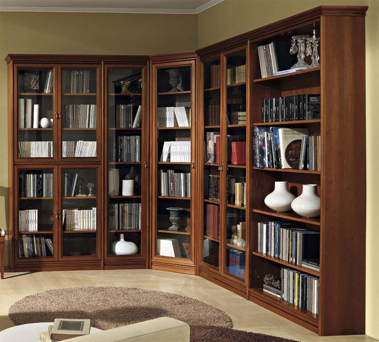 B cherschrank schrankwand bibliothek modular wohnwand for Schlafzimmer schrankwand