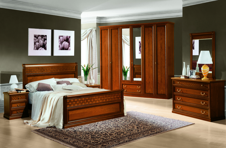 komplett schlafzimmer stilm bel aus italien luxus klassik nussbaum hochglanz ebay. Black Bedroom Furniture Sets. Home Design Ideas