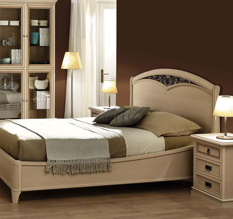 luxus bett 140x200 esche lattenrost design italia nussbaum furnier gu eisen ebay. Black Bedroom Furniture Sets. Home Design Ideas