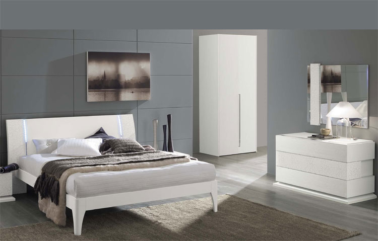 modernes komplett schlafzimmer stilm bel italien esche wei hochglanz luxus. Black Bedroom Furniture Sets. Home Design Ideas