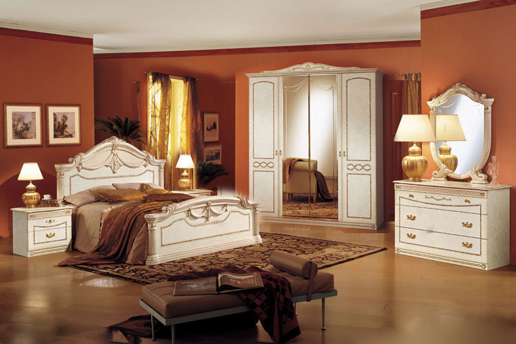 komplett luxus schlafzimmer rossella italienische stilm bel beige hochglanz ebay. Black Bedroom Furniture Sets. Home Design Ideas